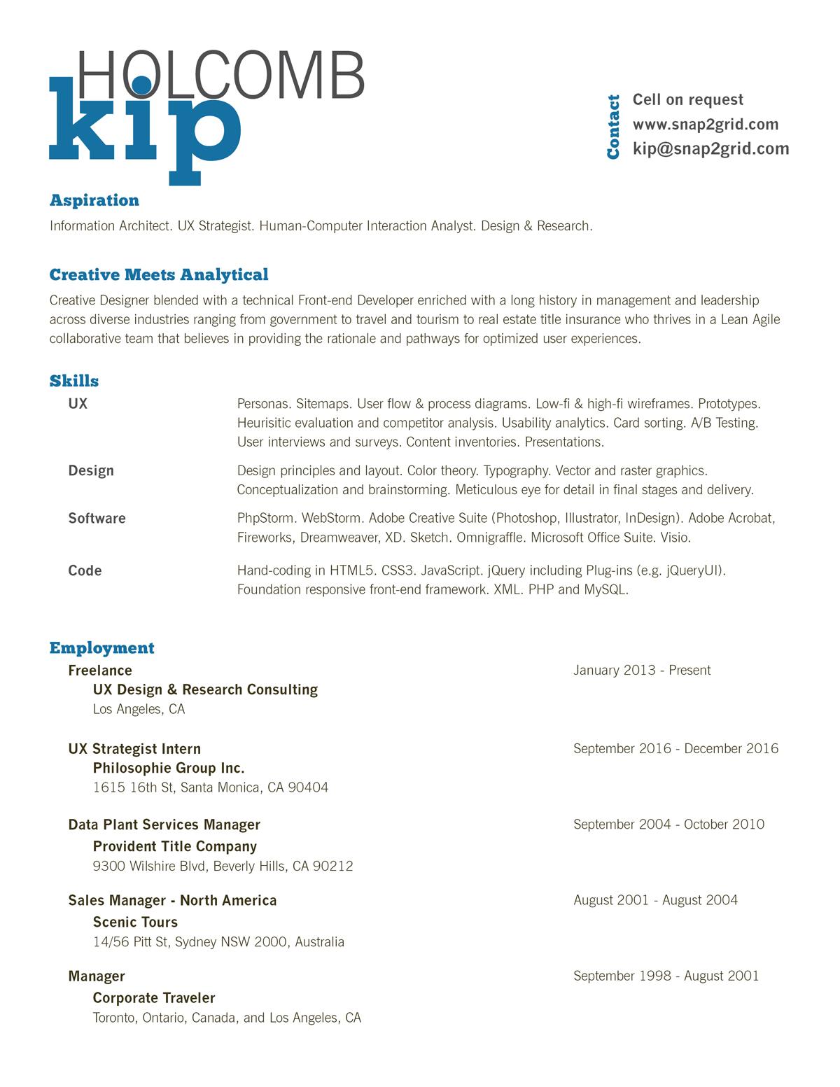 Kip Resume